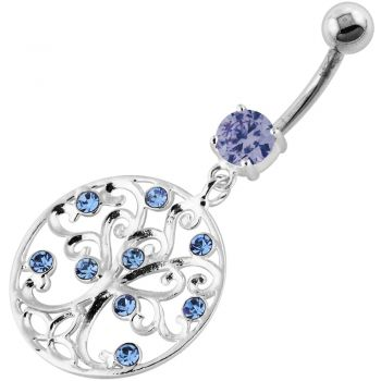Buy Jeweled Tree of Life Cut out Navel Belly Piercing online