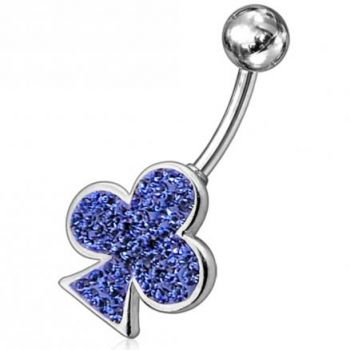 Buy Fancy Red Jeweled Leaf Non-Moving SS Bar Navel Belly Ring online
