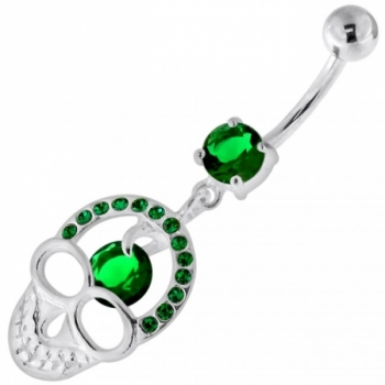 Buy Jeweled Skull with center Stone Navel Belly Piercing online