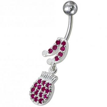 Buy Fancy Music Instrument Jeweled Dangling Navel Belly Ring online