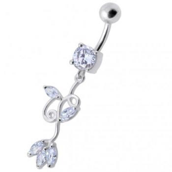 Buy Fancy Multi Colored Jeweled Dangling Navel Belly Button Ring online