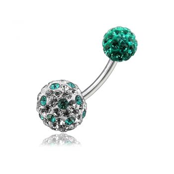 Buy Mix Color Crystal Stone Studded Balls With SS Navel Body Belly Ring FDBLY130 online