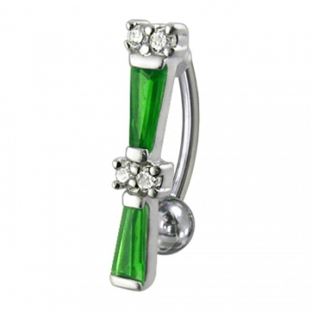 Buy Fancy Jeweled Non-Moving Reverse Navel Ring online
