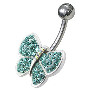 Buy Jeweled Butterfly Navel Belly Ring online