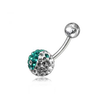Buy Multi Color Crystal stone SS Navel Belly Ring FDBLY050 online