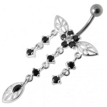 Buy Jeweled Butterfly Dangling Belly Navel Ring online