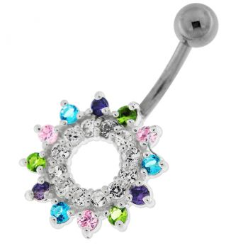 Buy Jeweled Navel Around Non-Moving  Belly Ring online