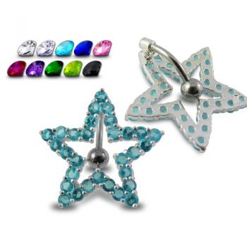 Buy Navel Around Star Belly Moving Ring online