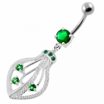 Buy 925 Sterling Silver Jeweled Squid Navel Belly Ring online