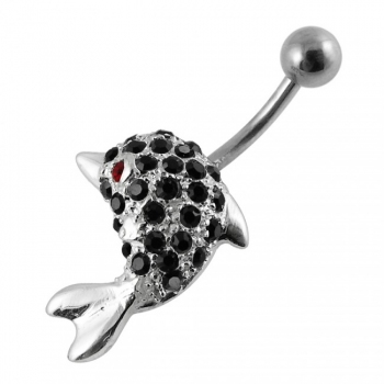 Buy Jeweled Dolphin Navel Belly Ring online