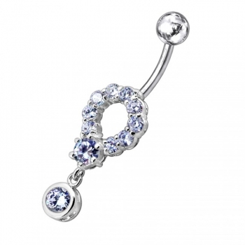Buy Moving Multi Stones Fancy Jeweled Navel Ring online