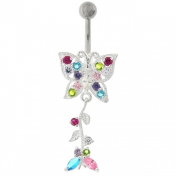 Buy Fancy Moving Butterfly Navel Ring online