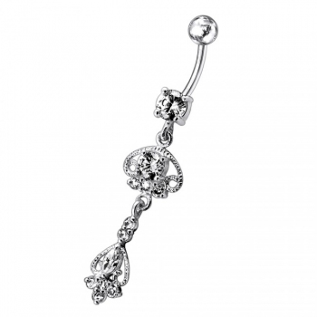Buy Jeweled Fancy Design Moving Navel Ring online