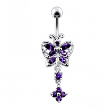 Buy Moving Jeweled Bug Fancy Navel Ring online
