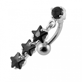 Buy Moving Fancy Jeweled SS Navel Ring online