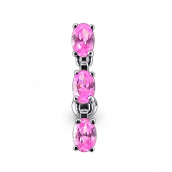 Buy 14 Gauge SS Moving Jeweled Charms Navel Ring online