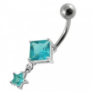 Buy Moving Jeweled Charms Navel Body Jewelry online