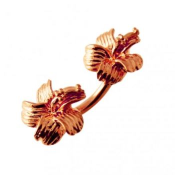 Buy Ross Gold Platted Hibiscus Flowers Spinal Belly Button Ring online