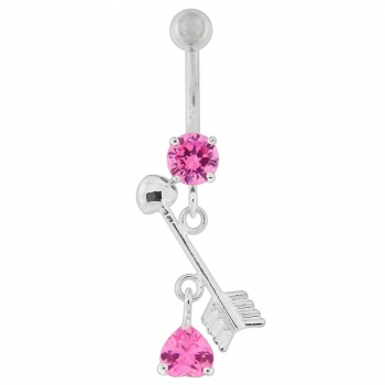 Buy Arrow with Heart Dangling Belly Button Ring online