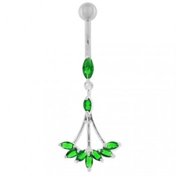 Buy Jeweled Dangling Floral Chandelier Belly Button Ring online