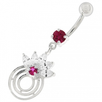 Buy Round Circle with Crown Dangling Belly Ring online