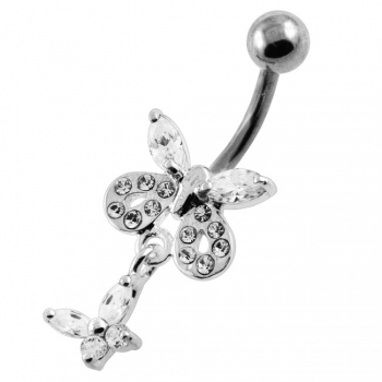 Buy Jeweled Tiny Butterfly Belly Button Piercing online