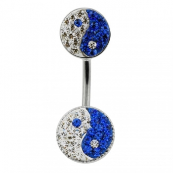 Buy Twin Ying Yang Spinal belly button ring online