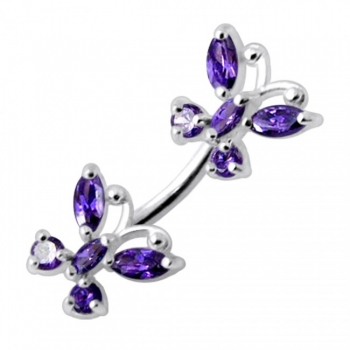 Buy Twin Butterflies Spinal belly button jewelry online