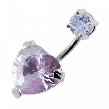 Buy Jeweled Heart Spinal belly button jewelry online