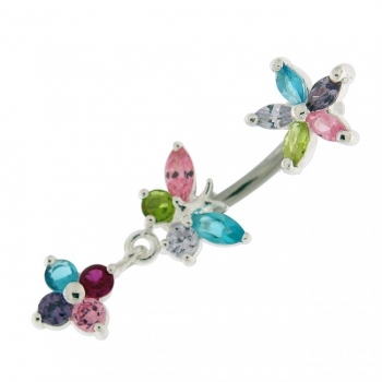 Buy Flower with Butterfly Spinal belly piercings online