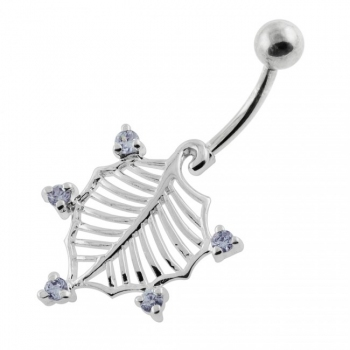 Buy American Holly Leaf Belly Button Ring online