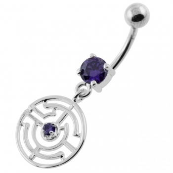 Buy Jeweled Round Maze belly button ring online