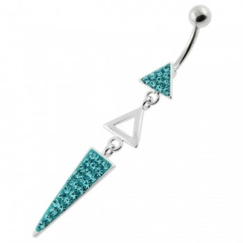 Buy Multi Jeweled 3 Triangle belly button jewelry online