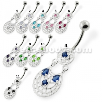 Buy Fancy Jeweled belly button rings online