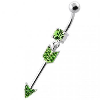 Buy Multi Jeweled Arrow belly button ring online