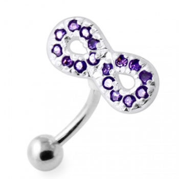 Buy Jeweled Infinity Reverse Banana belly Ring online