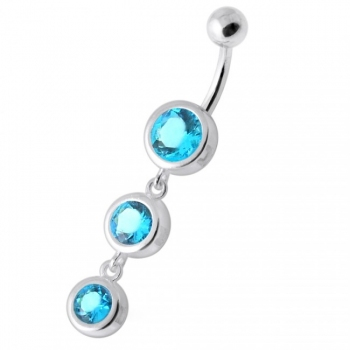 Buy Basel Setting Tri Round Jeweled Belly Banana online