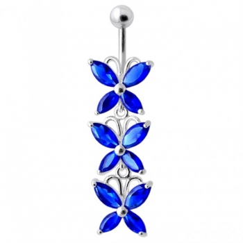 Buy Top Quality Stone Fancy Jeweled Dangling Belly Ring online
