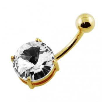 Buy Round Jeweled  Non-Moving Belly Ring online