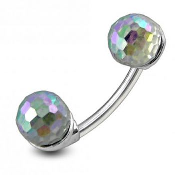 Buy Crystal Balls Spinal Belly Button Ring online