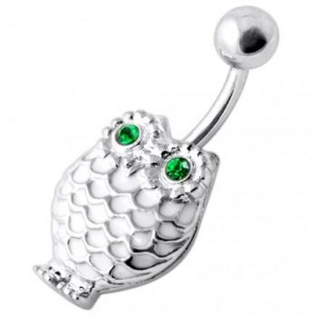 Buy Owl Silver Belly Ring online