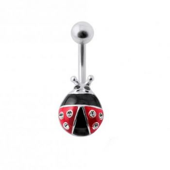 Buy Colorful Fancy Bug Silver Belly Ring online