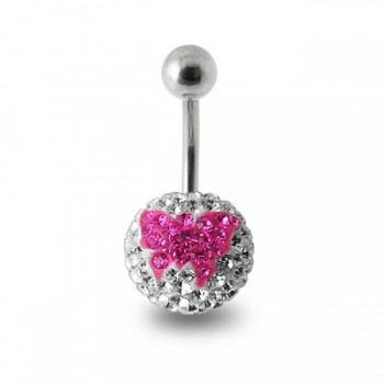 Buy Butterfly Crystal stone Banana Bar Belly Ring online