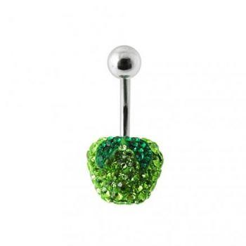 Buy Green Apple Crystal stone Belly Ring online
