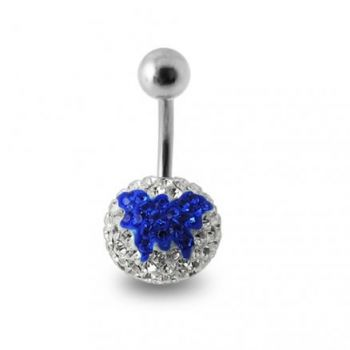 Buy Blue Butterfly Crystal stone  Studded Belly Button Ring online