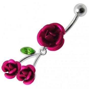 Buy Jeweled Rose Dangling Belly Ring online