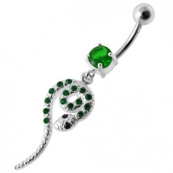 Buy Snake Jeweled Dangling Belly Ring online