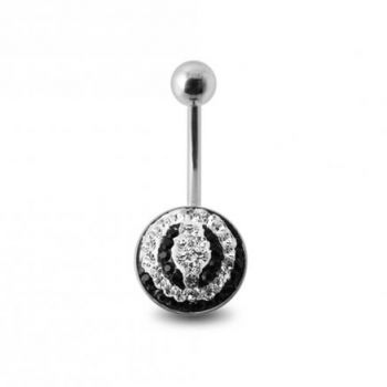 Buy Crystal Stone Belly Ring with Steel Base SBLY09 online