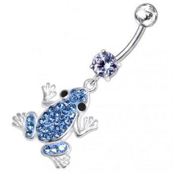 Buy Jeweled Frog Dangling Belly Ring online