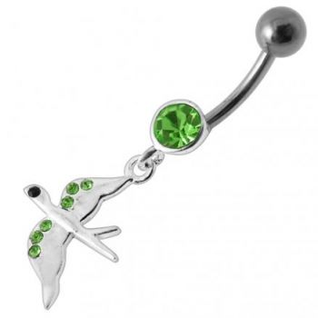 Buy Jeweled Flying Pigeon Dangling Belly Ring online